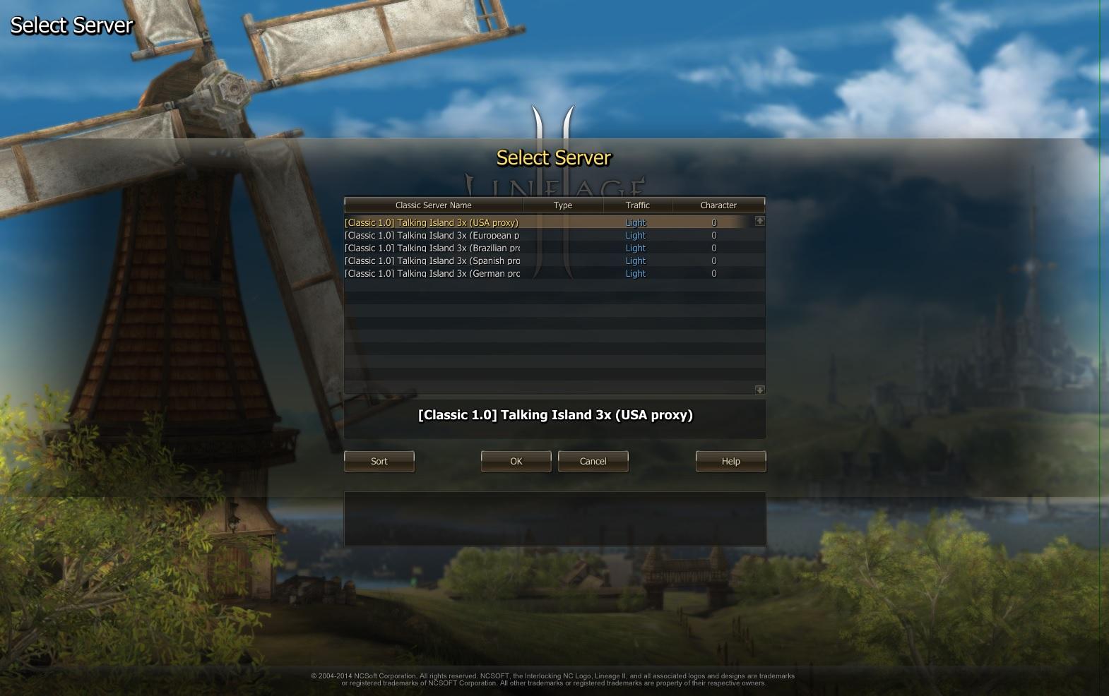 Select Server - I need help - Lineage 2 Classic